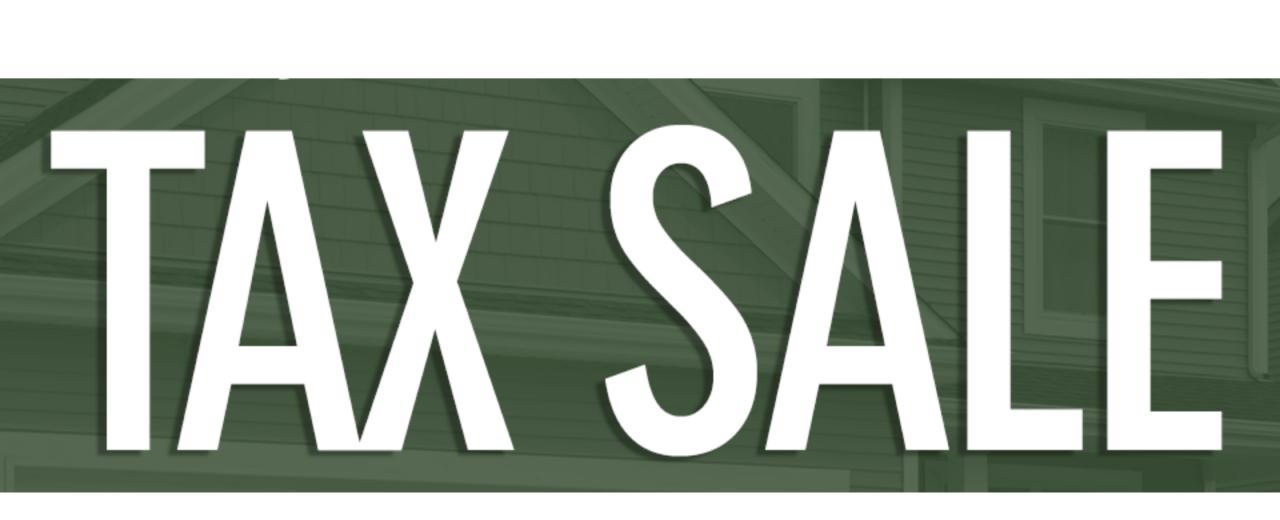 Tax sale banner
