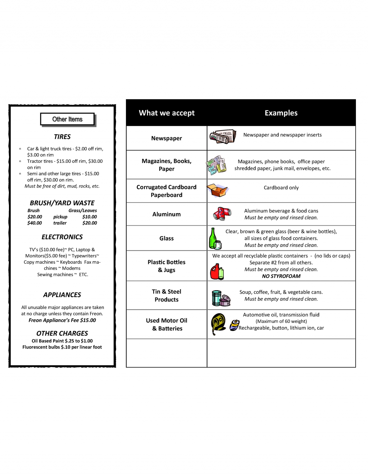 Recycle Brochure Page 2