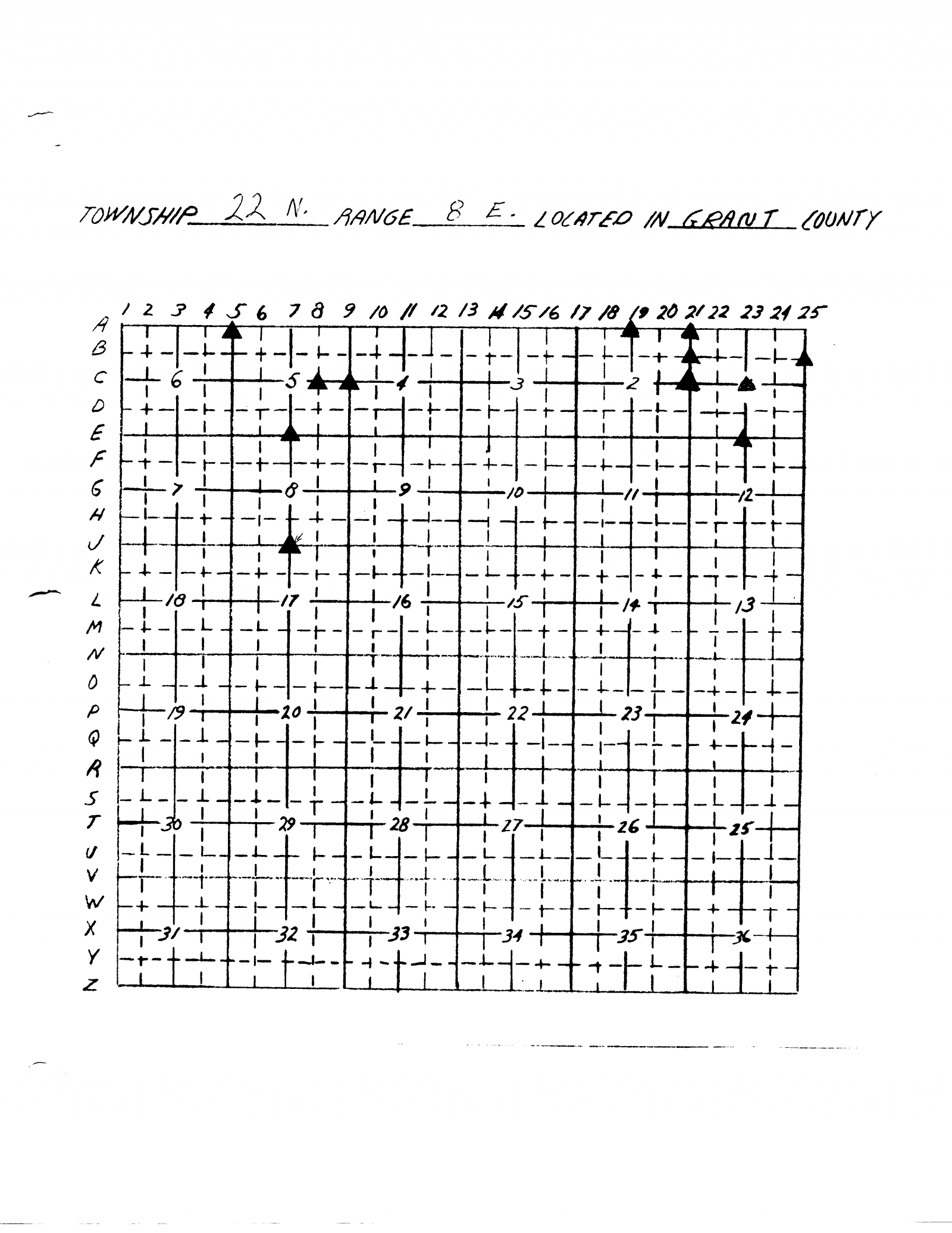 grid for cornerstone markers t22n