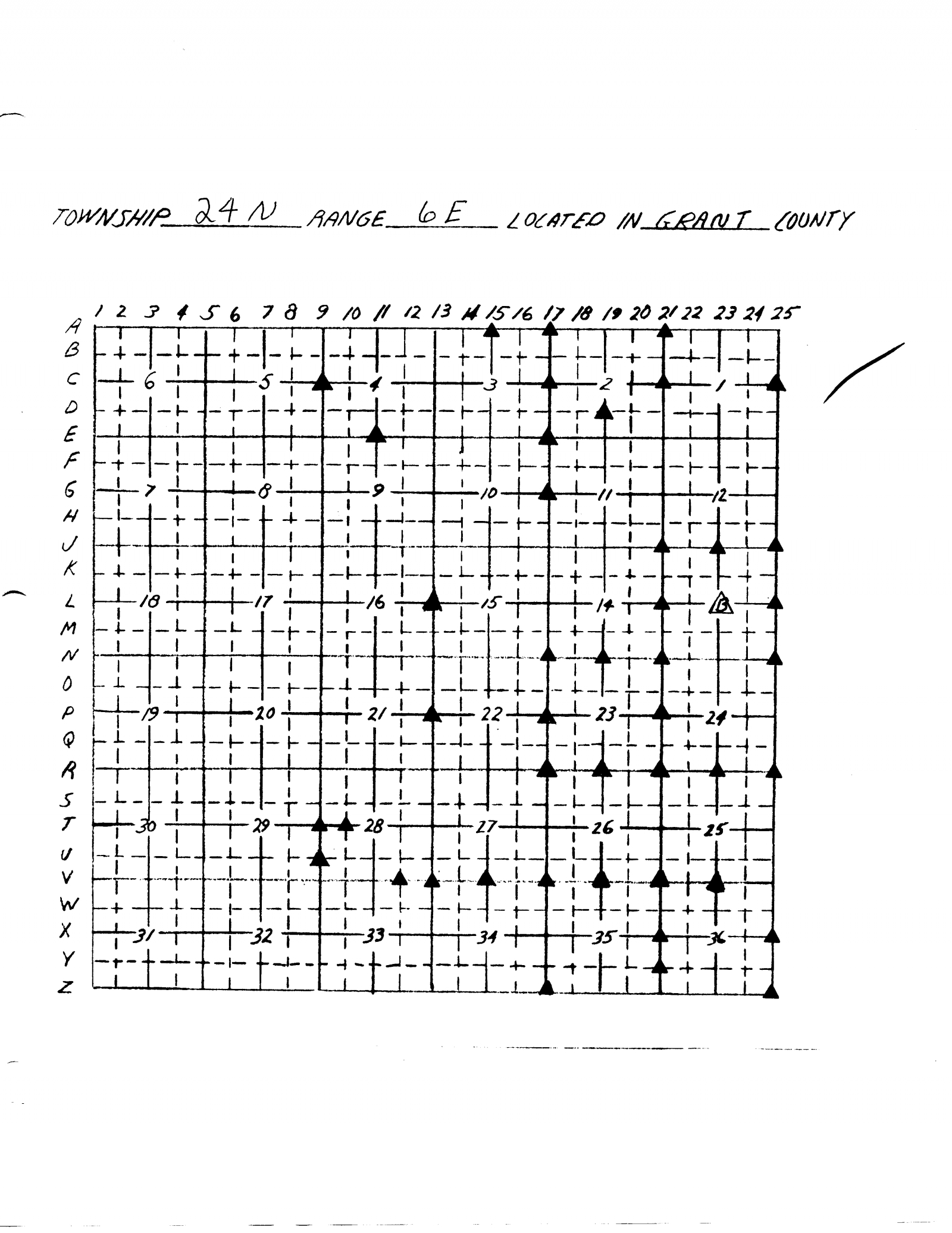 grid for cornerstone markers t24n